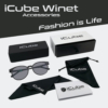 Kép 2/4 - iCube Winet fekete - Fényre sötétedő - Monitor szemüveg tartozékok
