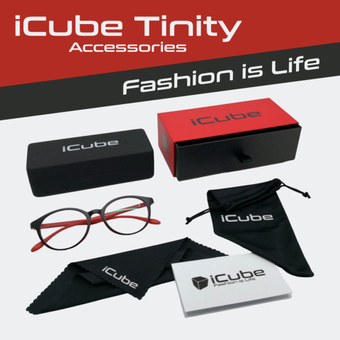 iCube Tinity piros - Monitor szemüveg tartozékok