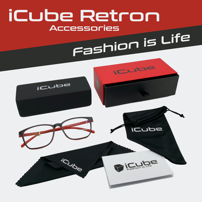 iCube Retron piros - Monitor szemüveg tartozékok